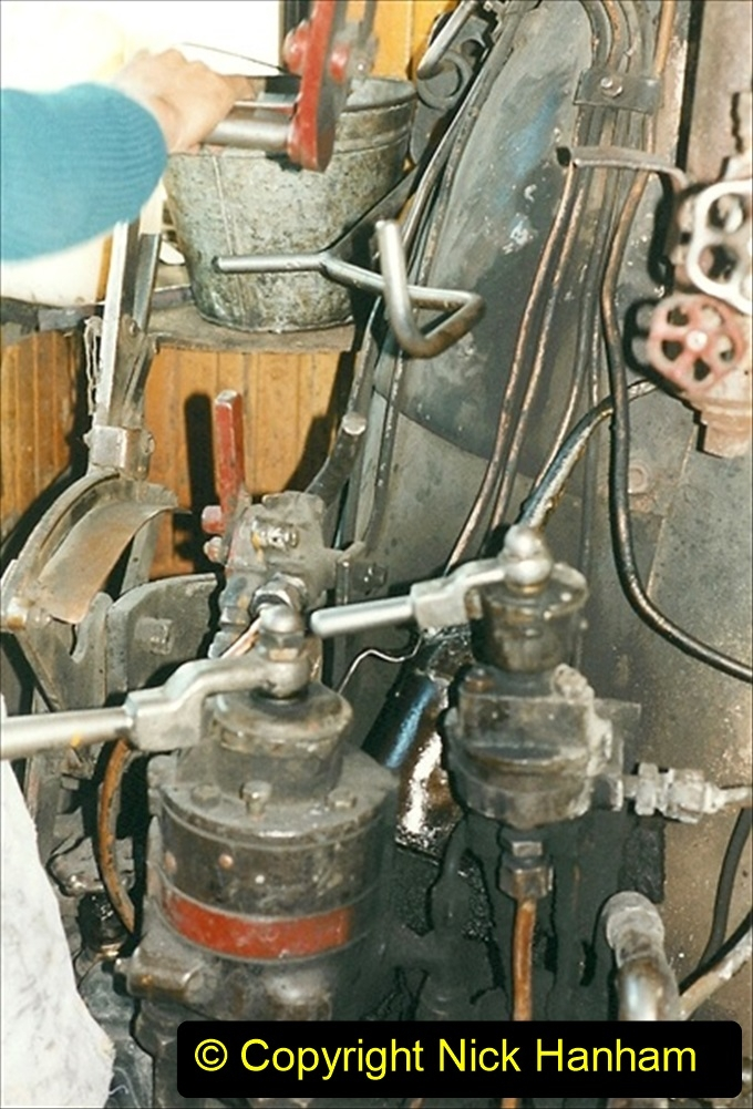 China 1999 October Number 1. (163) At Jalainur Opencast Coal Mine. SY crew invite me aboard to take tea.