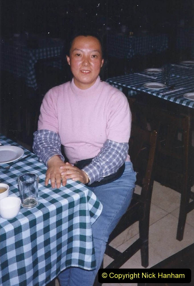 China 1999 October Number 1. (277) Our Jalainur Hotel and our National Guide.