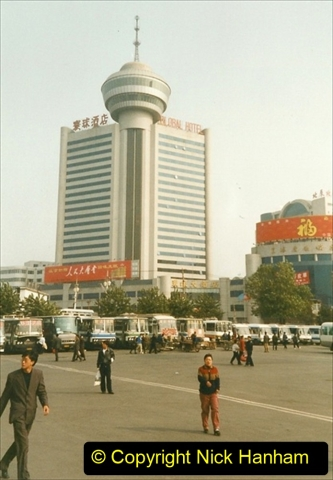 China 1999 October Number 3. (6) Lhifeng to Anshan by rail. Our group were the first Western group visitors to this three mill people city. 006