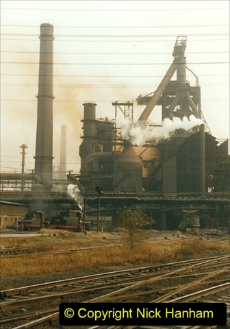 China 1999 October Number 3. (21) Anshan Steel Works. The works area was very, very dirty.  021