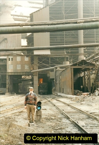 China 1999 October Number 3. (42) Anshan Steel Works. The works area was very, very dirty.  042