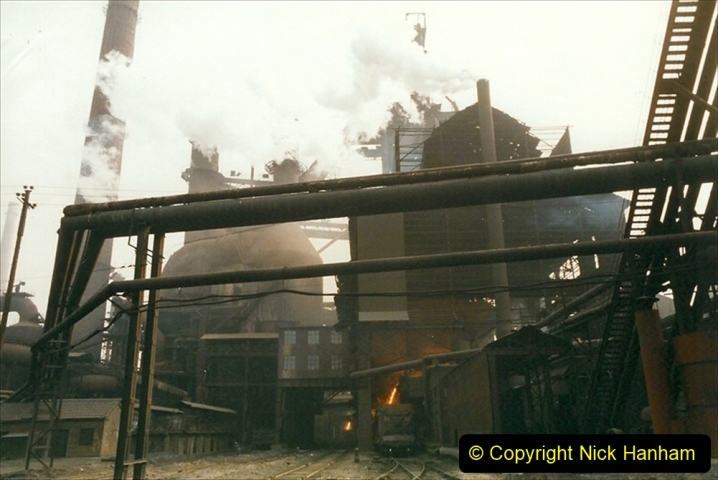 China 1999 October Number 3. (51) Anshan Steel Works. The works area was very, very dirty.  051