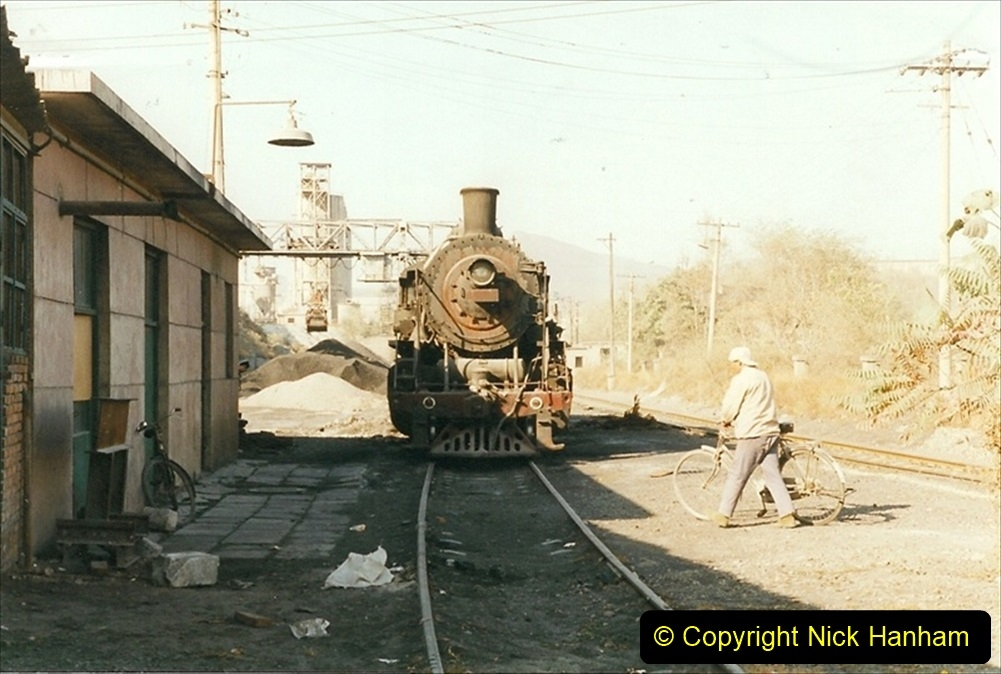 China 1999 October Number 4. (70) Loco at exchange sidings. 070