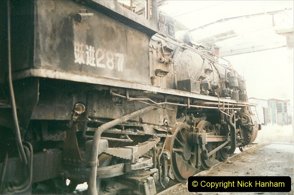 China 1999 October Number 4. (74) Loco at exchange sidings. 074