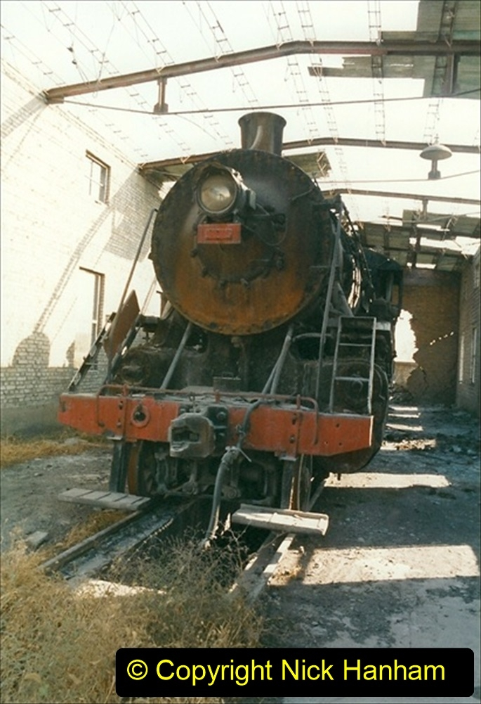 China 1999 October Number 4. (75) Loco at exchange sidings. 075