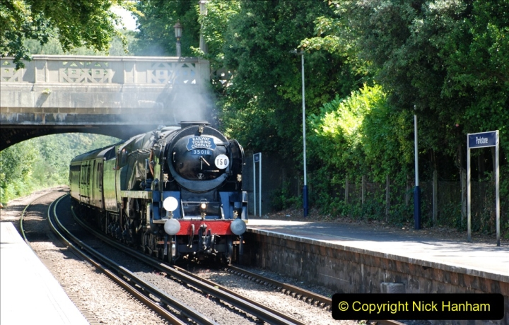 2019-07-02 - 35018 British India Line at Parkstone. (1) 001