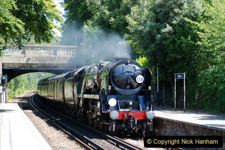 2019-07-02 - 35018 British India Line at Parkstone. (2) 002