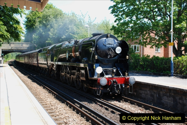2019-07-02 - 35018 British India Line at Parkstone. (3) 003