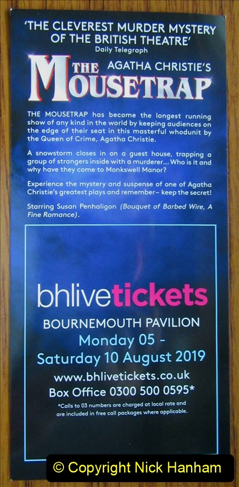 2019-08-07 The Mousetrap at Bournemouth Pavillion Theatre. (2) The Play. 002
