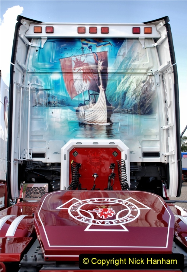 2019-09-01 Truckfest @ Shepton Mallet, Somerset. (237) Rear of the trucks at 232 to 234. 237