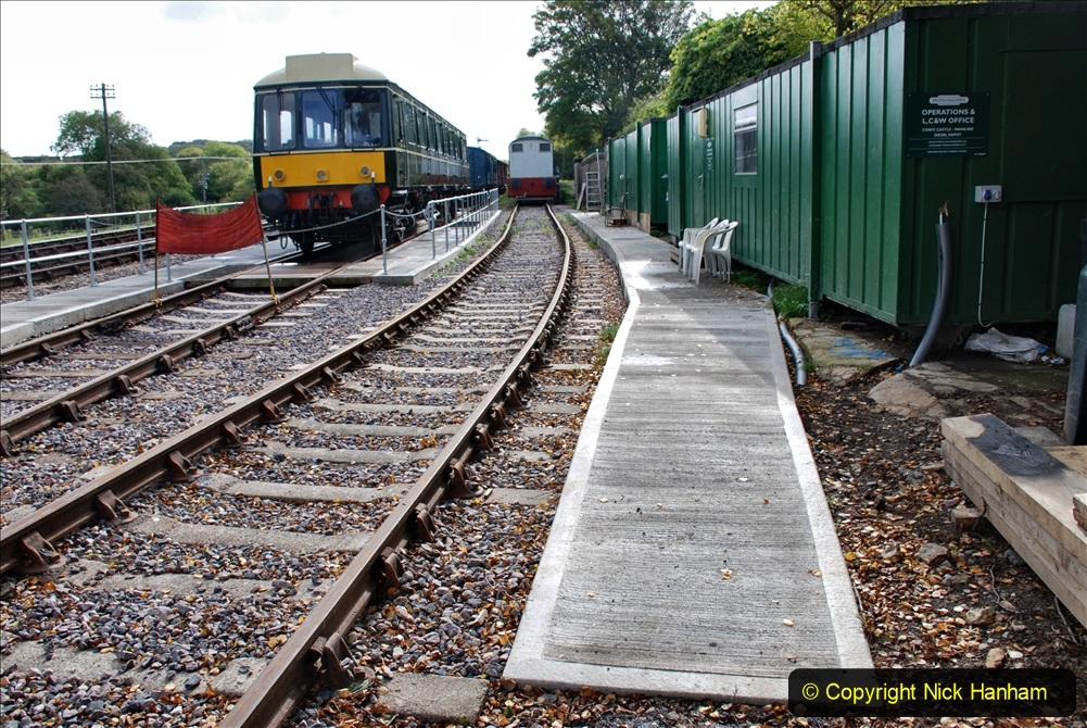 2019-10-09 Corfe Castle - Swanage - Norden. (3) The new pit area at CC. 03
