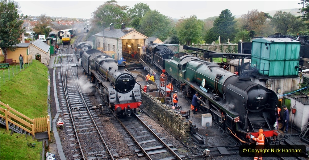 2019-10-11 Six Locomotives for the SR Autumn Steam Gala. (2) 002