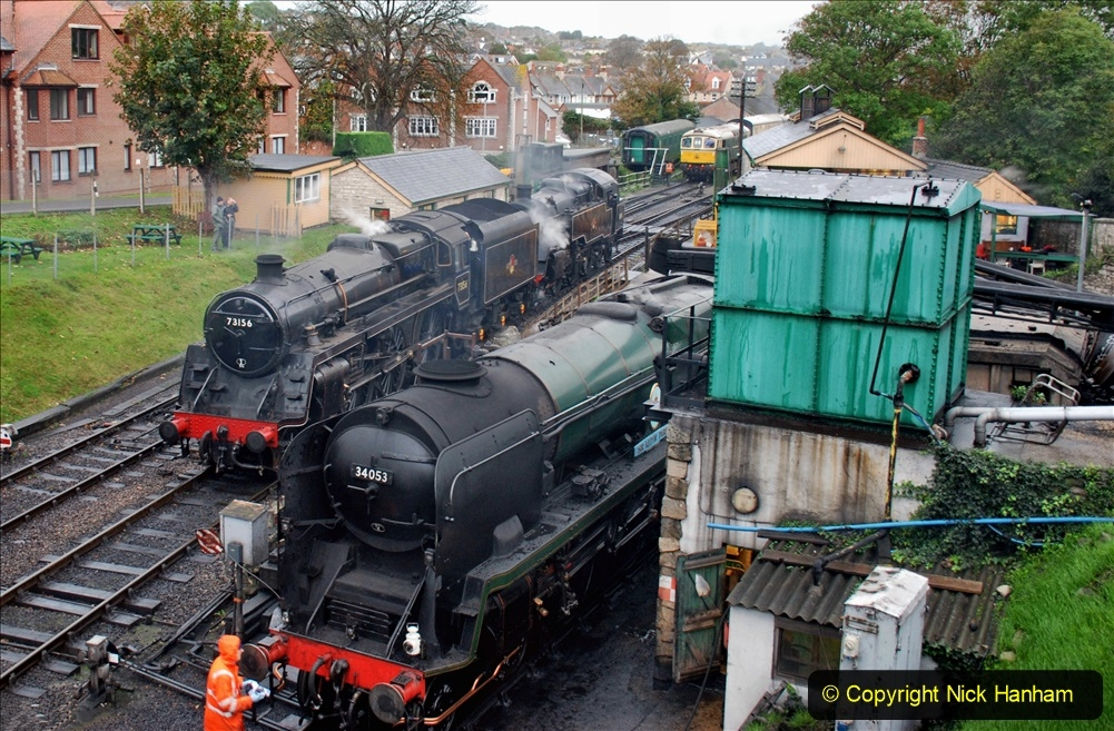 2019-10-11 Six Locomotives for the SR Autumn Steam Gala. (3) 003