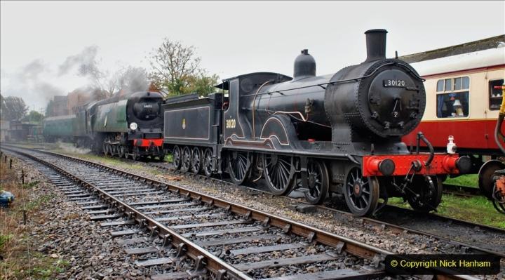 2019-10-11 Six Locomotives for the SR Autumn Steam Gala. (62) 062