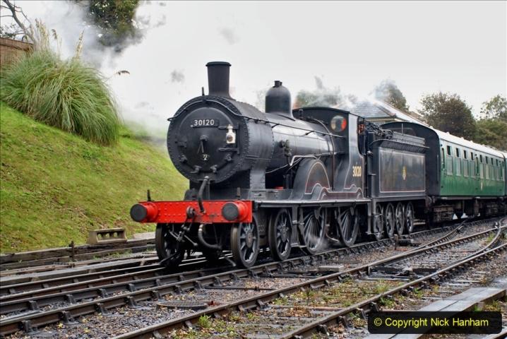 2019-10-11 Six Locomotives for the SR Autumn Steam Gala. (147) 147