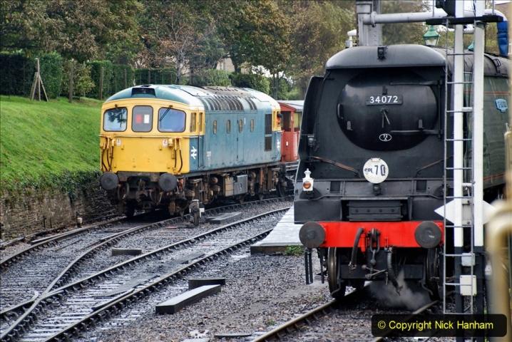 2019-10-11 Six Locomotives for the SR Autumn Steam Gala. (177) 177