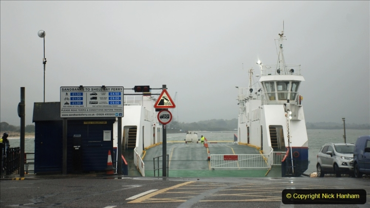 2019-10-31 Sandbanks to Studland ferry returns after a 3 month absence due to major repairs on engines. (2) Sandbanks to Studland. 002