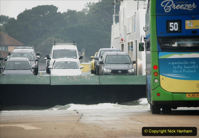 2019-10-31 Sandbanks to Studland ferry returns after a 3 month absence due to major repairs on engines. (23) Studland to Sandbanks. 023