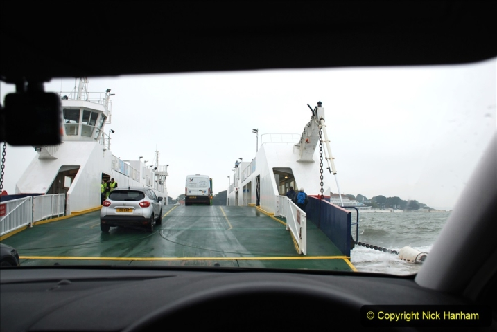 2019-10-31 Sandbanks to Studland ferry returns after a 3 month absence due to major repairs on engines. (28) Studland to Sandbanks. 028