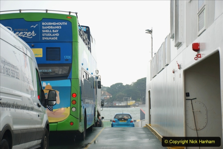 2019-10-31 Sandbanks to Studland ferry returns after a 3 month absence due to major repairs on engines. (29) Studland to Sandbanks. 029