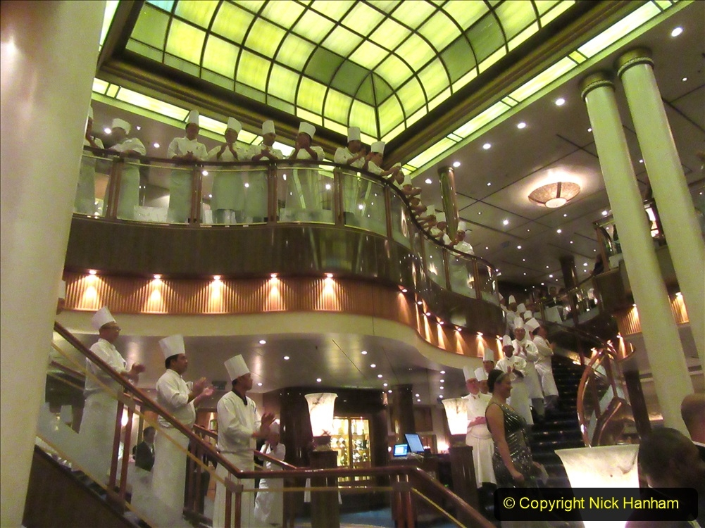 2019_11_03 to 17 Cunard's Queen Mary New York to Southampton @ first Literature Festival at Sea.  (129) Our last formal evening. Chef's Parade. 129