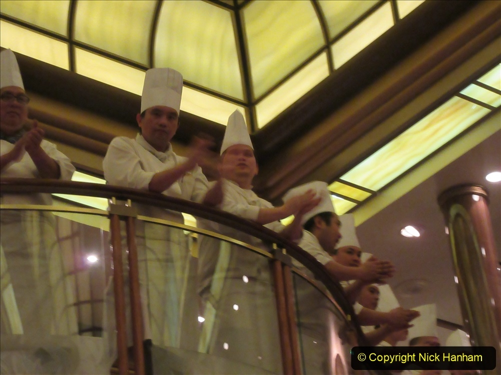 2019_11_03 to 17 Cunard's Queen Mary New York to Southampton @ first Literature Festival at Sea.  (131) Our last formal evening. Chef's Parade. 131