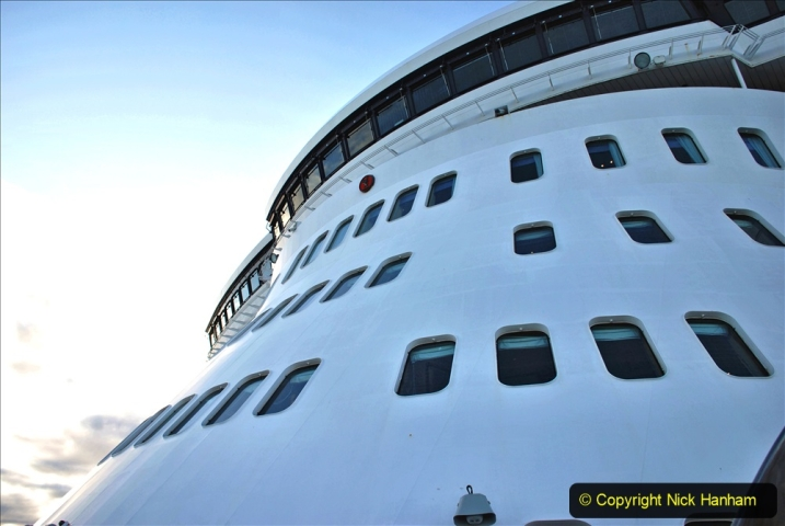 2019-11-03 to 17 Cunard's Queen Mary Southampton to New York. (90) Our ship. 090