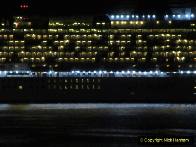 2019-11-03 to 17 Cunard's Queen Mary Southampton to New York. (149) P&O ship Ventura leaving harbour. 149