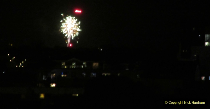 2019-11-03 to 17 Cunard's Queen Mary Southampton to New York. (173) Bonfire night celebration for November 05 as we leave. 173
