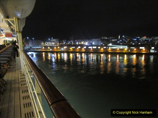 2019-11-03 to 17 Cunard's Queen Mary Southampton to New York. (179) Leaving Southampton for New York. 179