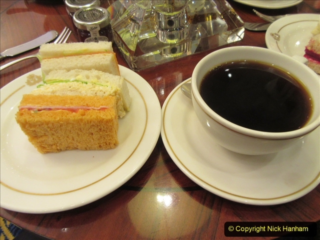 2019-11-03 to 17 Cunard's Queen Mary Southampton to New York. (197) The famous White Star Afternoon Tea. 191