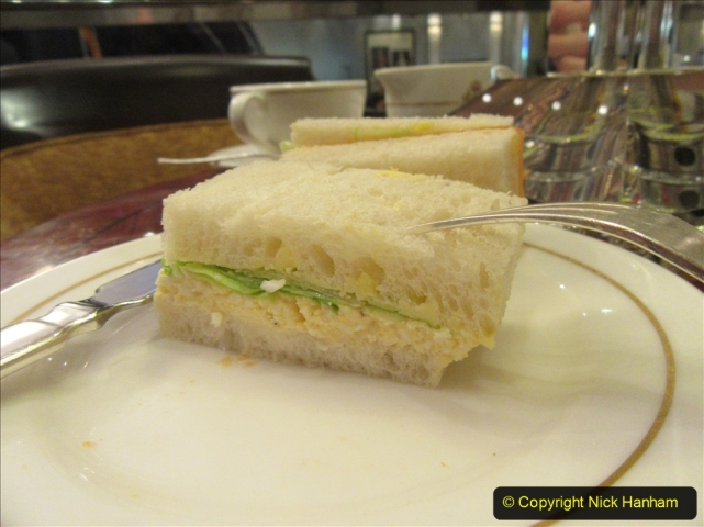 2019-11-03 to 17 Cunard's Queen Mary Southampton to New York. (199) The famous White Star Afternoon Tea. 191