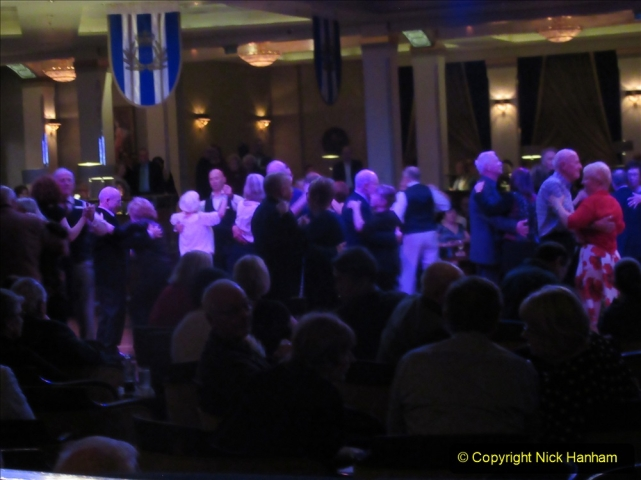 2019-11-03 to 17 Cunard's Queen Mary Southampton to New York. (234) The Queen's Room dancing. 234