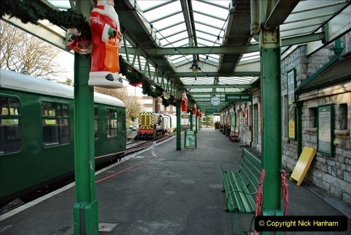 2019-11-28 The SR no running day Swanage to Wareham. (62) Santa Specials Preparations. 062