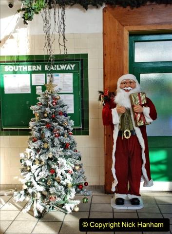 2019-11-28 The SR no running day Swanage to Wareham. (79) Santa Specials Preparations. 079
