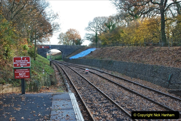 2019-11-28 The SR no running day Swanage to Wareham. (127) Harmans Cross. 127