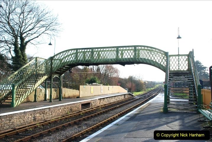 2019-11-28 The SR no running day Swanage to Wareham. (151) Harmans Cross. Corfe Castle. 152