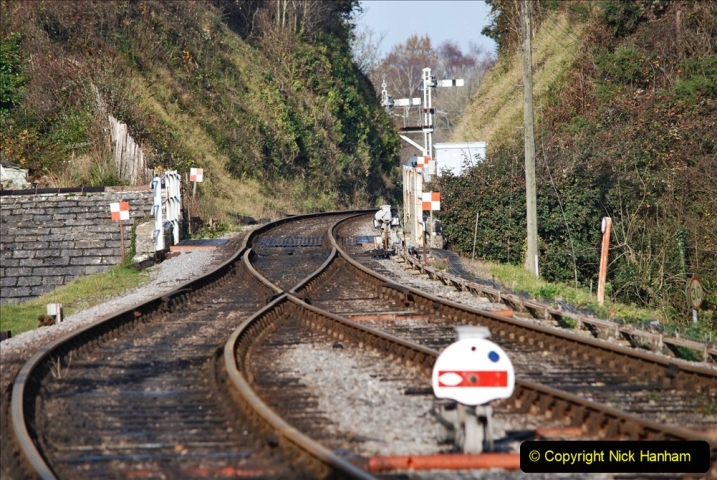 2019-11-28 The SR no running day Swanage to Wareham. (165) Harmans Cross. Corfe Castle. 166