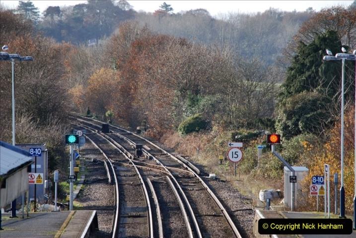 2019-11-28 The SR no running day Swanage to Wareham. (235) Wareham. 235