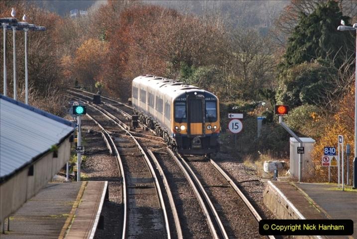 2019-11-28 The SR no running day Swanage to Wareham. (241) Wareham. 241