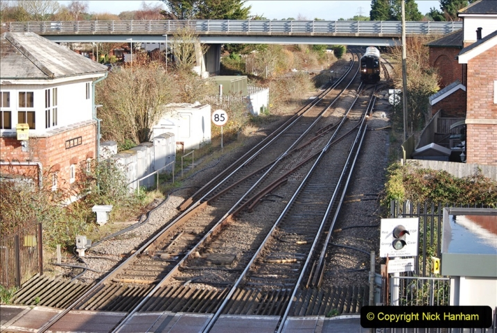 2019-11-28 The SR no running day Swanage to Wareham. (243) Wareham. 243