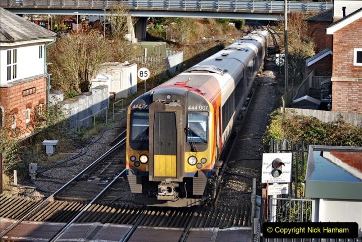 2019-11-28 The SR no running day Swanage to Wareham. (244) Wareham. 244