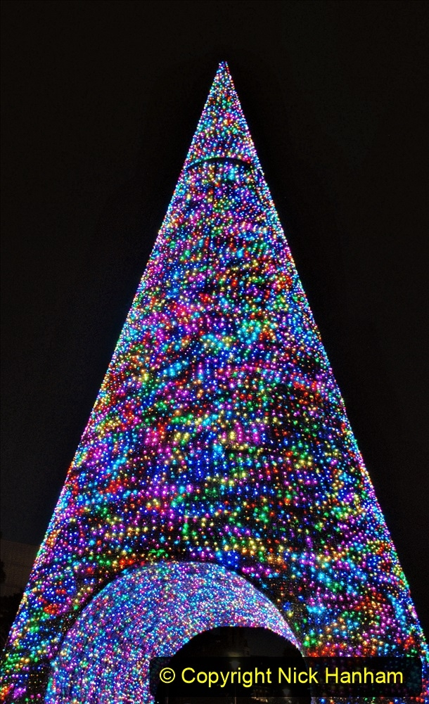 2019-12-09 Bournemouth Christmas Lights. (160) The Tree of Many Colours. 160