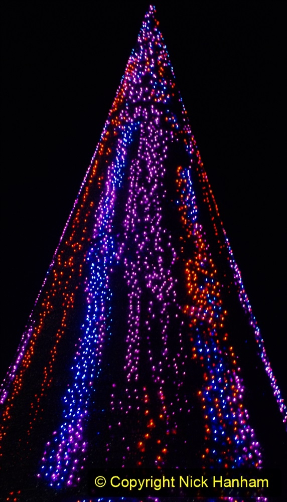 2019-12-09 Bournemouth Christmas Lights. (181) The Tree of Many Colours. 181