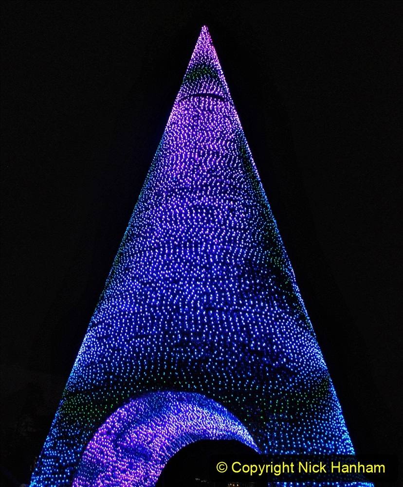 2019-12-09 Bournemouth Christmas Lights. (185) The Tree of Many Colours. 185
