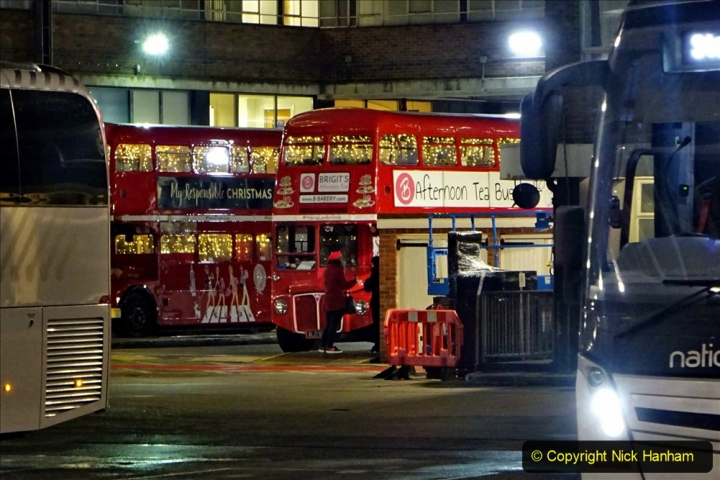 2019-12-16 London. (213) Festive Routemaster at Victoria Coach Station. 213
