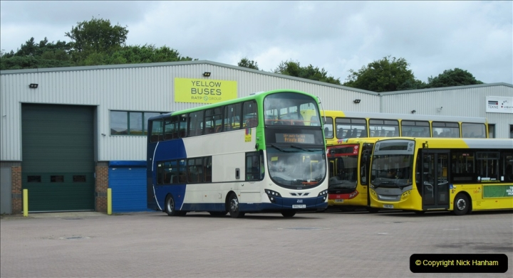 2019-07-21 Yellow Buses depot on Canford Heath, Poole, Dorset. (3) 105