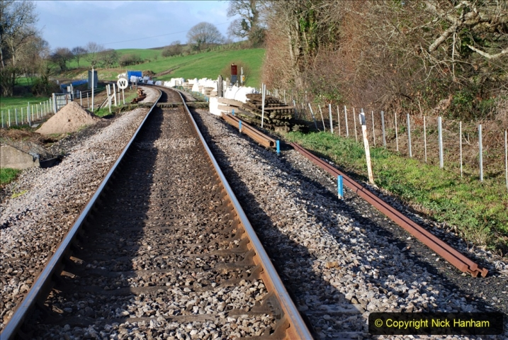2019-12-23 SR Santa Specials. (142) January 2020 rail replacement work site. 142