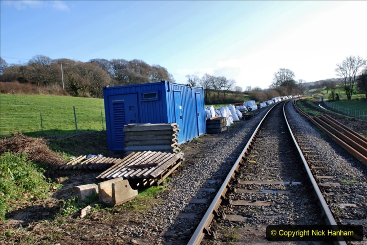 2019-12-23 SR Santa Specials. (151) January 2020 rail replacement work site. 151