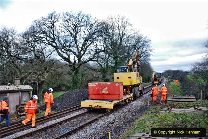 2020-01-06 Track renewal Cowpat Crossing to just beyond Dickers Crossing. (14) 014
